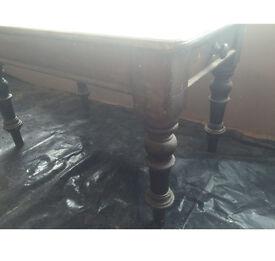 Solid oak table antique