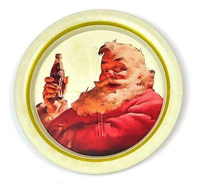 Coca-Cola Coke USA Metall Untersetzer Coaster Motiv: Santa mit Flasche