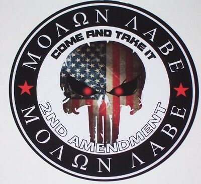 Molon Labe Come and Take it truck RV motorhome Wall Window Graphic Decal decals
