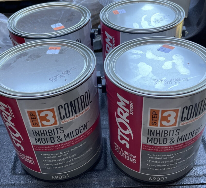 4 Step 3 Control White Mold Resistant Paint