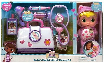 Doc Mcstuffins Bag (Doc McStuffins Pet Rescue Doctor's Bag Set with Lil' Nursery Pal)