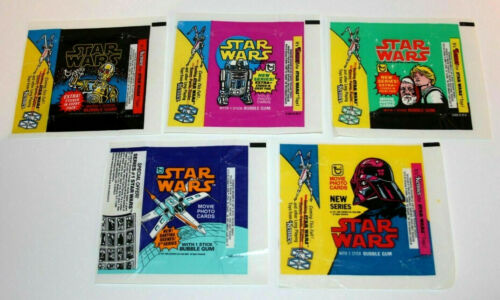 1977 Star Wars TOPPS Trading Card Wrapper Collection- Your Choice of 5 Series
