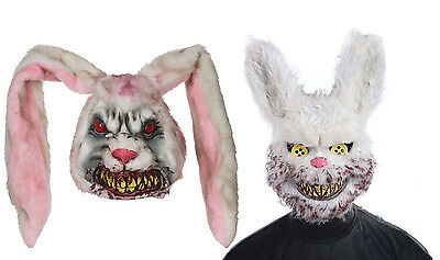 MENS SCARY ZOMBIE RABBIT MASK EVIL BUNNY HALLOWEEN - Scary Bunny Maske