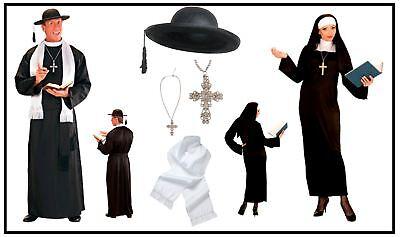 Nonne Priester Herren Damen Kostüm Pfarrer Oberin Partnerkostüm - Priester Nonne Kostüm