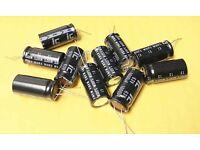 NOS Mallory 470uF 200VDC Negative Black 105c Capacitor LP471M200E5P3