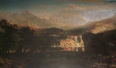 THE ROCKY MOUNTAINS Albert Bierstadt Color Print American Artist Landscape ()