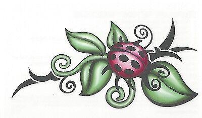 TRIBAL LADYBUG Temporary Tattoo MEDIUM SIZE NEW! BEAUTFUL TATTOO](Ladybug Tattoos)