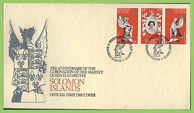 Solomon Islands 1978 Coronation set on First Day Cover