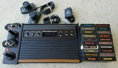 Atari 2600 Heavy Sixer Console Bundle with 20 Games Clean / Tested / Paddles