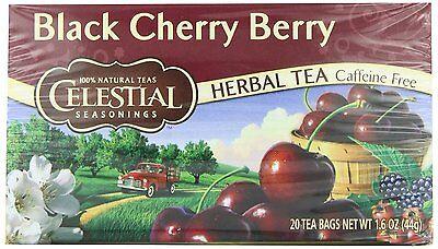 Black Cherry Berry Herb Tea - Celestial Seasonings Herb Tea, Black Cherry Berry, 20-Count Tea Bags (Pack of 6)