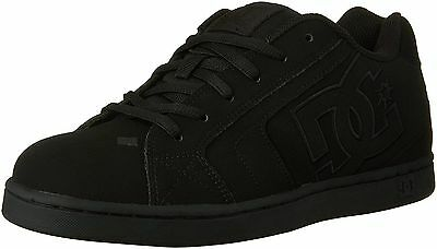 Dc Shoes Mens Net Shoes Black Sneakers Skate Street Grunge