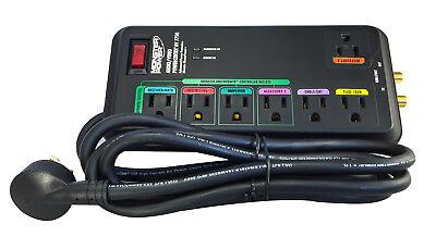 Monster Power MP AV 775G Green Power Surge Protector - 7 Outlets - 2160 Joules