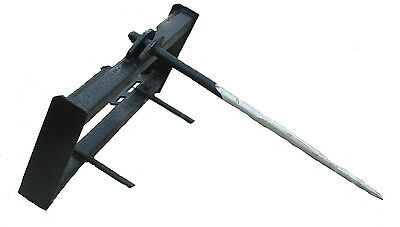 New Hay Spear Skidsteer Attachment Quick Attach Universal Hook-up Free Ship