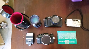 Assorted film cameras, lenses, flash etc. Aldinga Beach Morphett Vale Area Preview