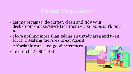 Home Organiser & Cleaner