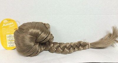 Monique doll wig for 10-11 head circumference blonde with braid