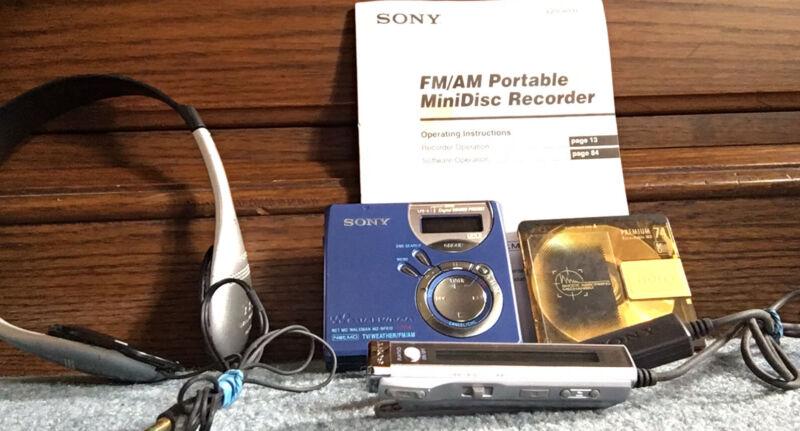 SONY MZ-NF610 Portable Minidisc Player Net ND Walkman Recorder W/ Mini Disc