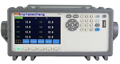32-channel Thermocouple Pt100 Temperature Tester Meter Data Recorder 4.3 Rs232