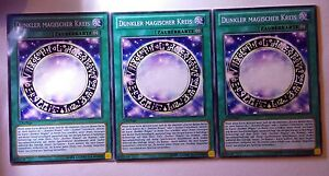 3x Dunkler magischer Kreis...Orica SET..Common... ORICA LESEN!!!! yugioh