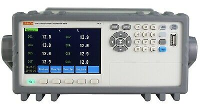 24-channel Thermocouple Pt100 Temperature Tester Meter Data Recorder 4.3 Rs232