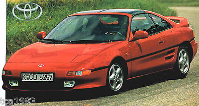 TOYOTA MR2 / MR-2 SPEC SHEET / Brochure / Catalog: 1997,1996,1995,......