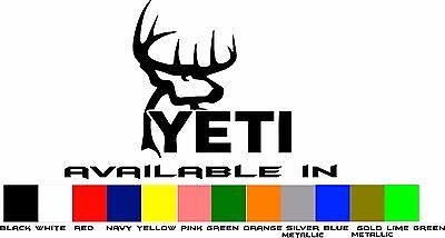 Yeti Hunter Vinyl Window Decal Sticker 4 Inch Deer Buck Antlers Buy 2 Get 1 FREE (Buy Deer Antlers)