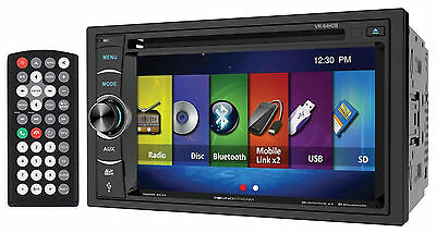 """Soundstream VR-64H2B 6.2"""" 2-DIN Bluetooth DVD Car Receiver Android/MobileLink X2"""