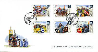 Alderney 2016 FDC Battle of Hastings 950 6v Set Cover William Conqueror Stamps