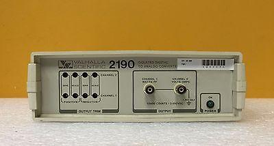 Valhalla Scientific 2190 Ch 1 Wpf Ch 2 Va Digital To Analog Controller