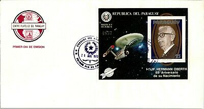 PARAGUAY FDC Space Specialized: LOT #7 Professor Hermann Oberth PHYSICS $$$