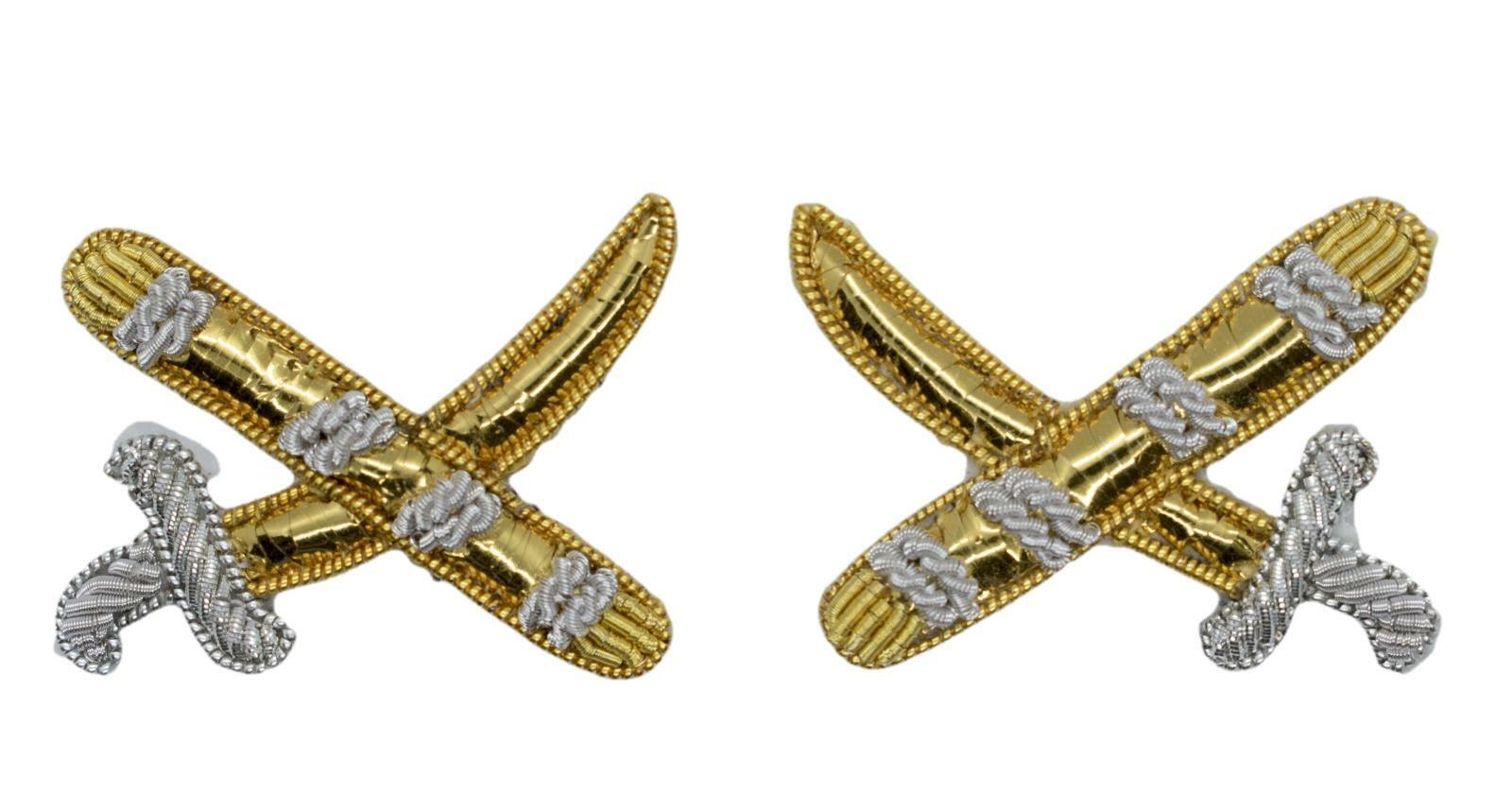 Badge Generals Gold Silver Sword & Baton Badge