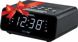 Emerson SmartSet Alarm Clock Radio with AM/FM Radio, Dimmer, Sleep Time and
