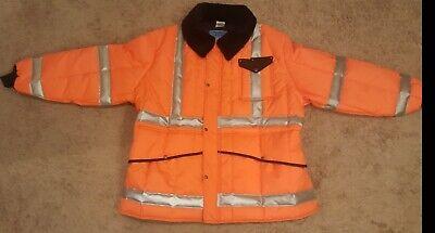 Refrigiwear Mens Hivis Reflective Iron-tuff Jackoat Workwear Jacket 5xl Orange
