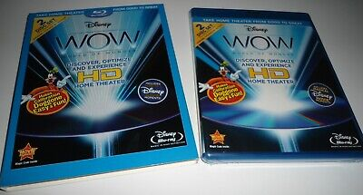 Disney WOW World of Wonder Optimize Home Theater HDTV (2 Blu-ray Set NEW)