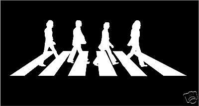 The Beatles Abbey Road WHITE cut vinyl sticker decal