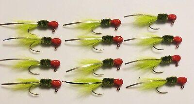 2 Dozen 1//16oz Crappie Hair Jigs #2 Nickel Sickle Hooks Hard Painted Jig Heads