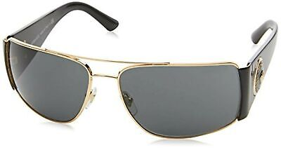 Versace Mens Polarized Gold/Grey Sunglasses 0VE2163 100281 63mm