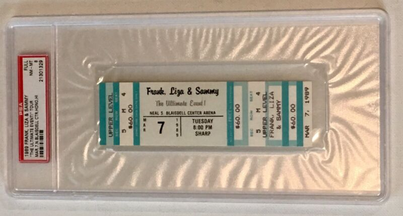 Frank Sinatra Liza Minnelli Sammy Davis 1989 Concert Ticket Unused PSA