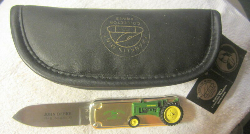 "Franklin Mint ""1948 John Deere tractor,model B,Single-Blade Folding Knife w case"
