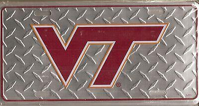 Virginia Tech Hokies Metal - Virginia Tech Hokies VT Metal Car Tag Automobile Diamond License Plate