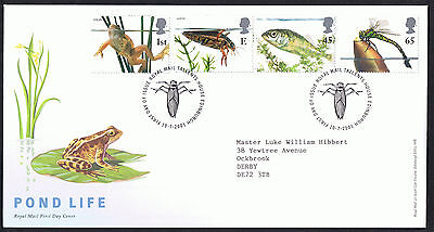 Pond Life 10th July 2001 First Day Cover - SG2220 to SG2223 Tallents Cancel