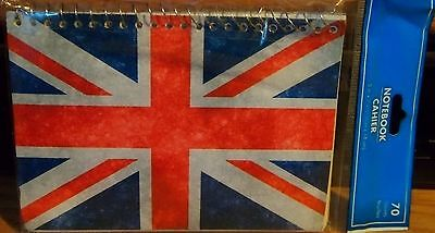 Note British Flag Note-book Paper 5x7 Lined Activity Uk Car Note Personal Note