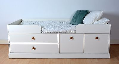 Sienna Cabin Bed in White Effect