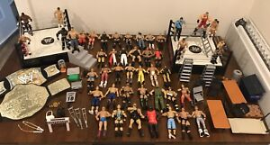 WWE WWF Wrestling Action Figures, Rings and Accessories