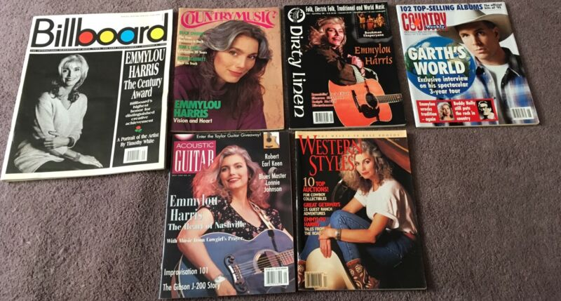 Emmylou Harris Magazine & Clippings Lot Western Styles Billboard Dirty Linen