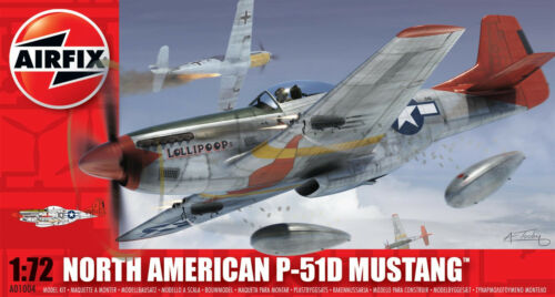 Airfix North American P-51D Mustang 1:72 Scale Plastic Model Plane A01004
