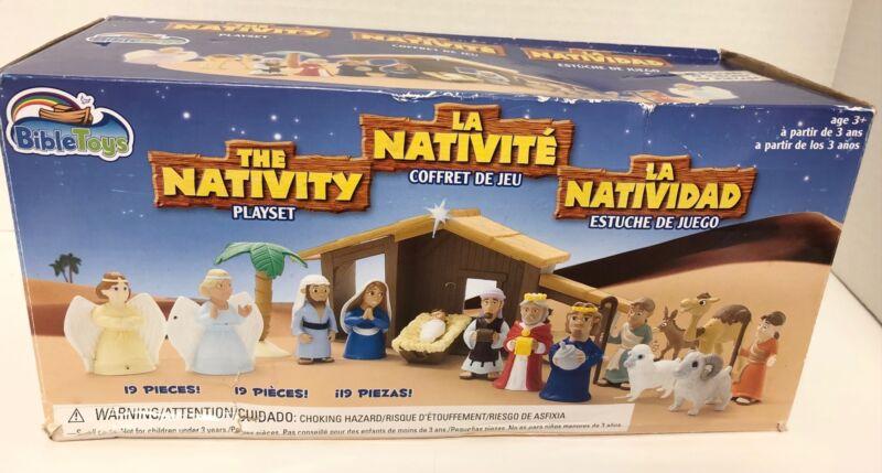 Bible Toys THE NATIVITY Playset Pvc Figures Manger 18 Pieces 2016 Christmas