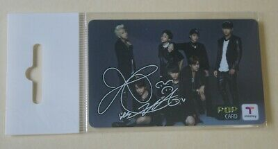 BTS 2014 T-Money Official Pop Card Photocard V Printed Signed Promo Only