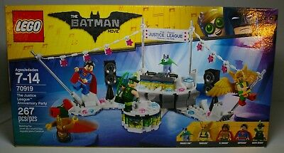 LEGO BATMAN MOVIE 70919 JUSTICE LEAGUE ANNIVERSARY PARTY 2018 MIP