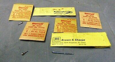 Lot Of 6 Starrett Brown Sharpe Precision Parts Dial Indicator Tips Points